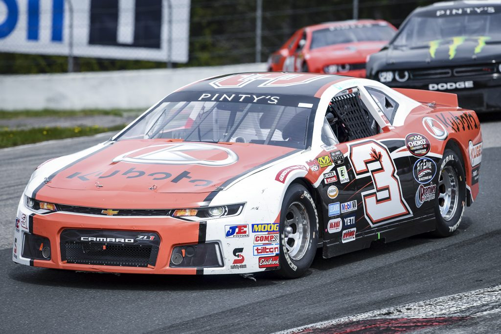 CLARINGTON, ON - MAY 19: Jason Hathaway, driver of the 3 Kubota Chevrolet Camaro during the Clarington 200 of the NASCAR Pinty's Series at Canadian Tire Motorsports Park in Clarington, ON. (Photo by Matthew Manor for NASCAR)